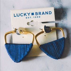 Lucky Brand Earring Triangle Statement Earrings